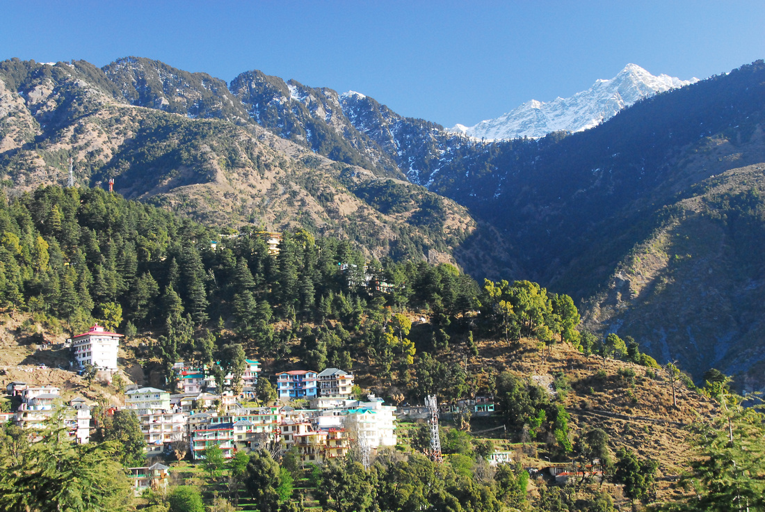 A view of McleodGanj in colour